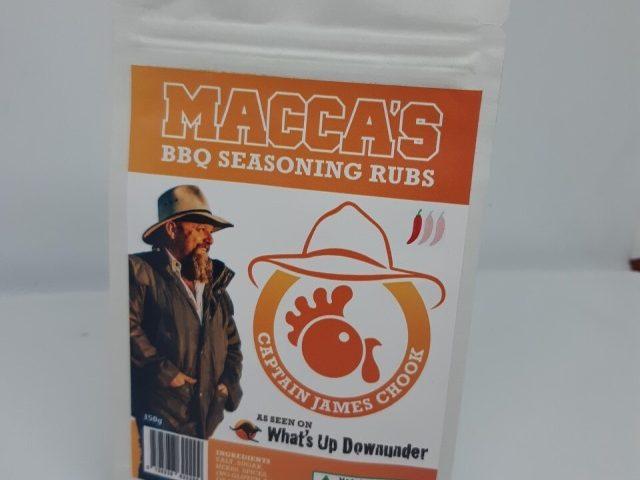 Macca's bbq seasoning rubs – captain james chook 150g