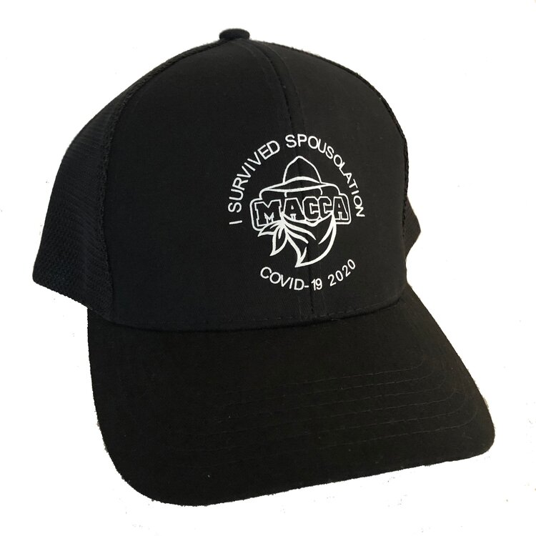 Macca's trucker hat – i survived spousolation covid-19 – limited edition | limited stock