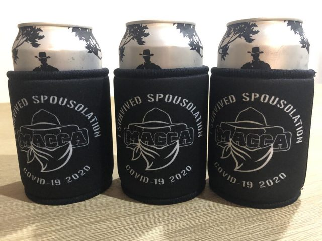 Macca's cooler – i survived spousolation covid-19 – limited edition | limited stockneed to keep something cool while you're trapped at home in isolation with the missus fighting off the coronavirus? might as well keep your beer cold with this covid-19 souvenir stubby holder.  coolers are sold each.