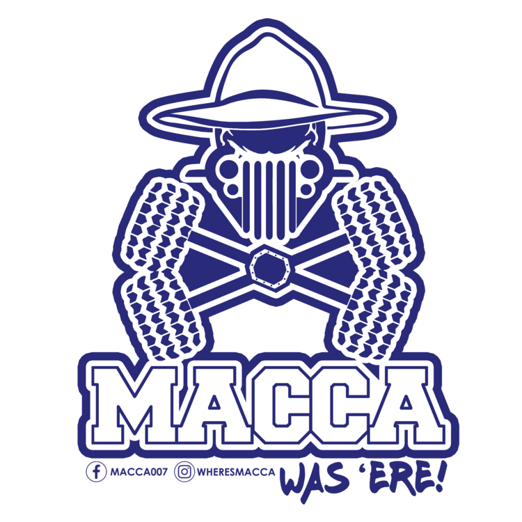 Macca's sticker – macca was 'ere sticker x 2