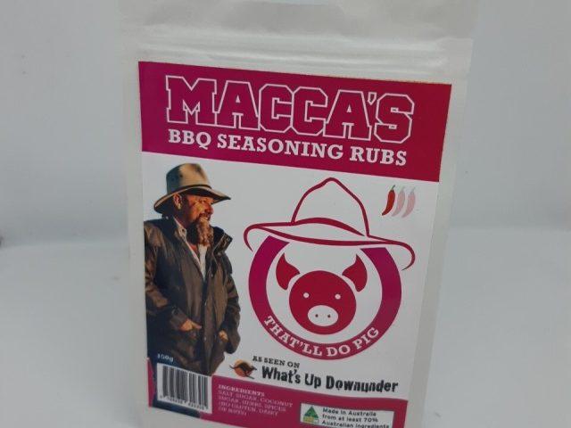 Macca's bbq seasoning rubs – that'll do pig 150g