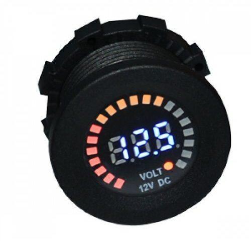 Baintech 12vdc led voltmeter socket