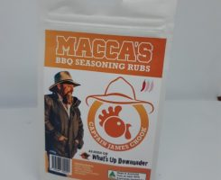 Macca's bbq seasoning rubs – captain james chook 150g