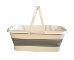 Collapsible shopping basket